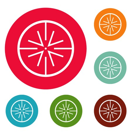 Center target icons circle set vector isolated on white background 矢量图像