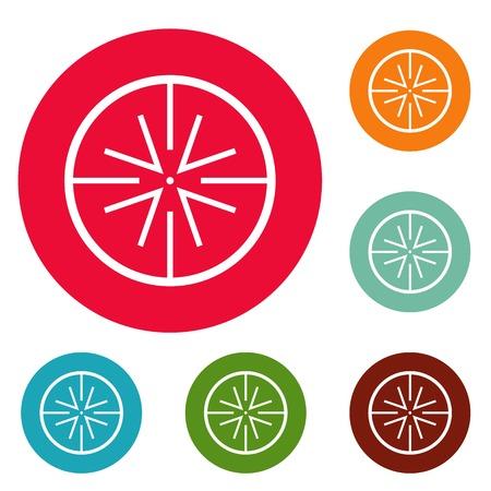 Center target icons circle set vector isolated on white background Illustration