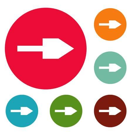 Arrow icons circle set vector isolated on white background. Illustration