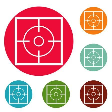 Destination icons circle set vector isolated on white background. Illustration