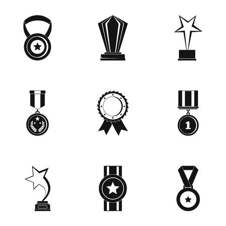 Reception icons set. Simple set of reception vector icons for web isolated on white background Illustration