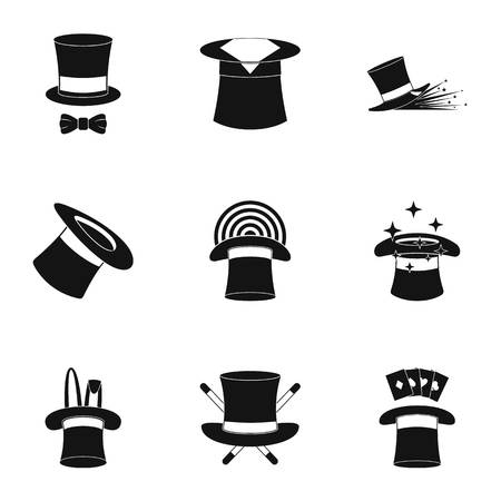 Bonnet icons set. Simple set of bonnet vector icons for web isolated on white background
