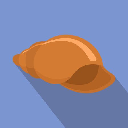 Flat illustration of small shell vector icon for web Иллюстрация