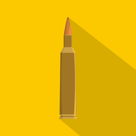 Flat illustration of single bullet vector icon for web Illustration