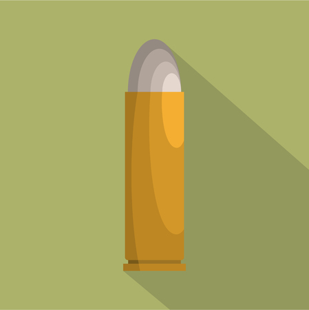 Flat illustration of cartridge vector icon for web