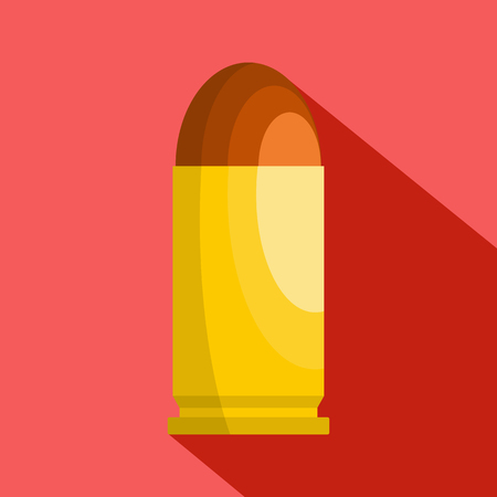 Flat illustration of single cartridge vector icon for web