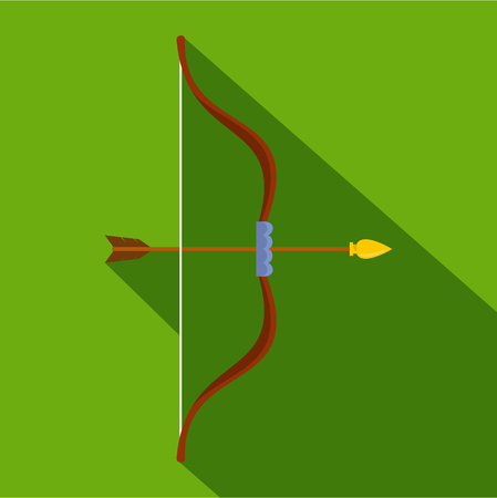 Archery icon. Flat illustration of archery vector icon for web Illustration