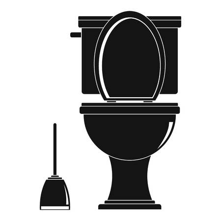 Simple illustration of comfort toilet vector icon for web