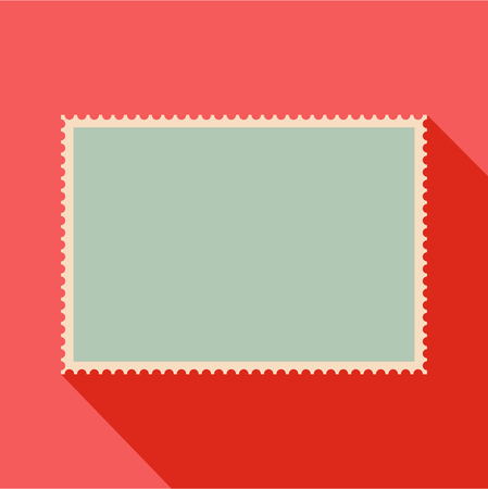 Flat illustration of empty postage stamp vector icon for web