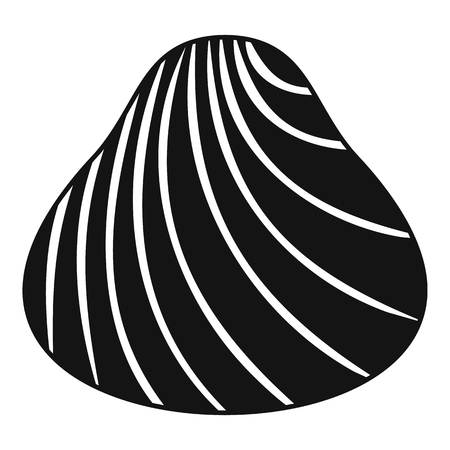 Hard shell icon. Simple illustration of hard shell vector icon for web