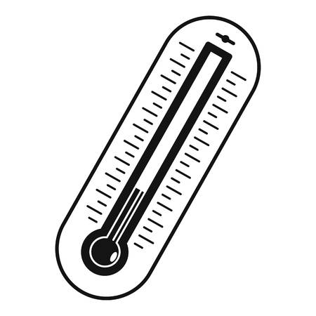 Fever thermometer icon. Simple illustration of fever thermometer vector icon for web Illustration
