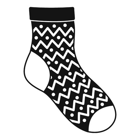 Ornament sock icon. Simple illustration of ornament sock vector icon for web