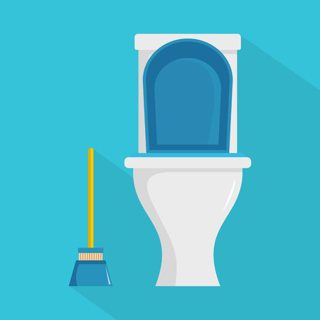 Toilet graphic element on colored Illustration.