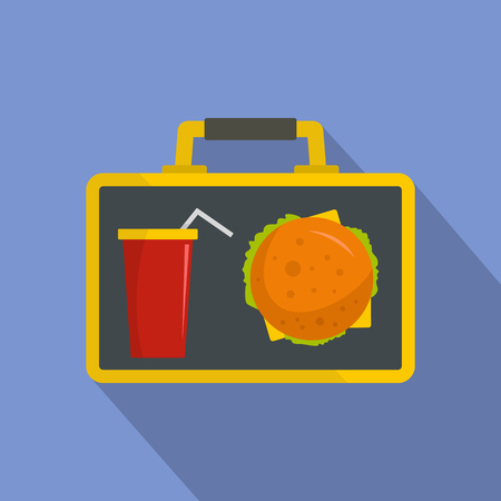Food for lunch icon. Flat illustration of food for lunch vector icon for web