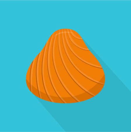 Hard shell icon. Flat illustration of hard shell vector icon for web Çizim