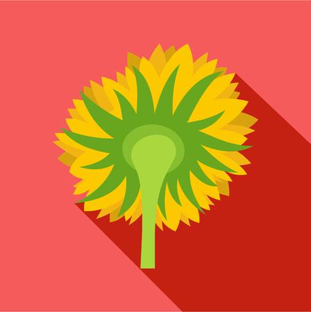 Turning sunflower icon. Flat illustration of turning sunflower vector icon for web