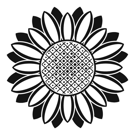 Circle of sunflower icon. Simple illustration of circle of sunflower vector icon for web