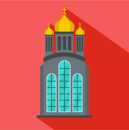 Eastern church icon. Flat illustration of eastern church vector icon for web