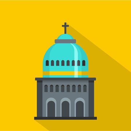 Catholic church icon. Flat illustration of Catholic church vector icon for web