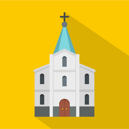 Kirche icon. Flat illustration of kirche vector icon for web Illustration