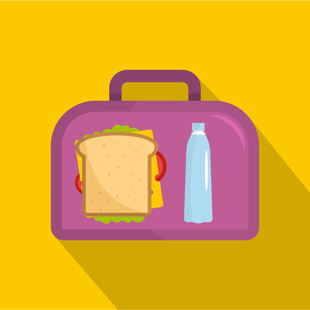 Office dinner icon. Flat illustration of office dinnervector icon for web