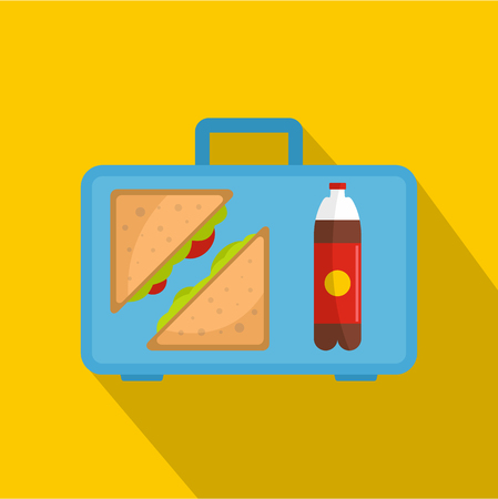Office breakfast icon. Flat illustration of office breakfast vector icon for web