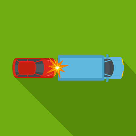 Car injury icon. Flat illustration of car injury vector icon for web