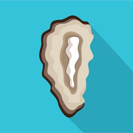 Seashell icon. Flat illustration of seashell vector icon for web
