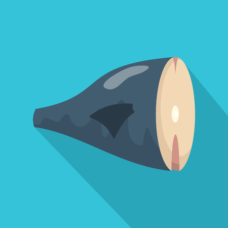 Seafood icon. Flat illustration of seafood vector icon for web