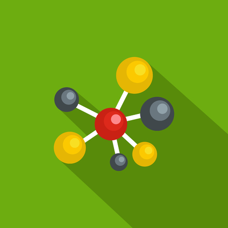 Atomic lattice icon. Flat illustration of atomic lattice vector icon for web Illustration