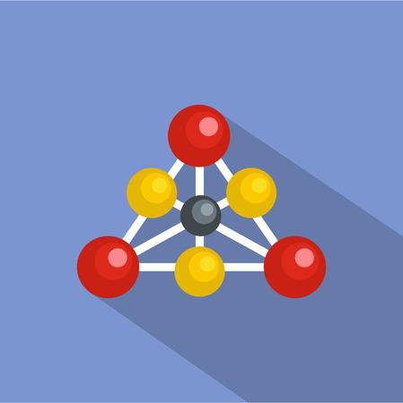 Diamond lattice icon. Flat illustration of diamond lattice vector icon for web Illustration