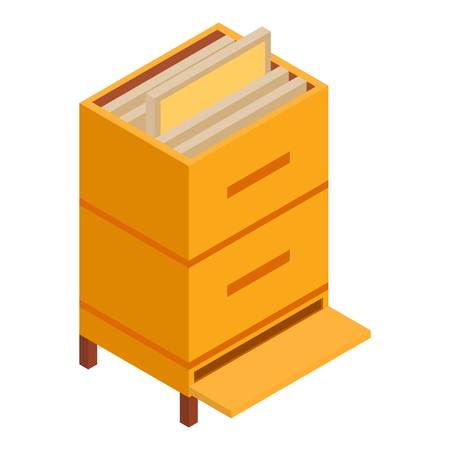Hive icon. Isometric illustration of hive vector icon for web