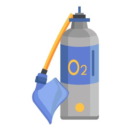Oxygen icon. Flat illustration of oxygen vector icon for web