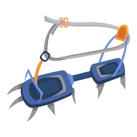 Hook climbing icon. Flat illustration of hook climbing vector icon for web
