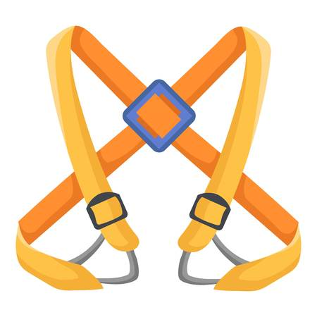 Climbing belt icon. Flat illustration of climbing belt vector icon for web