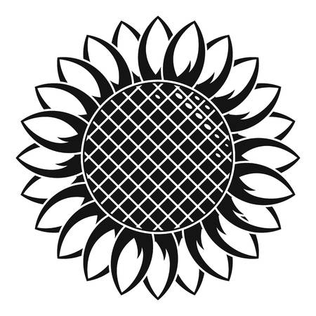 Round sunflower icon. Simple illustration of round sunflower vector icon for web