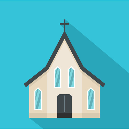 Easter church icon. Flat illustration of easter church vector icon for web Vettoriali