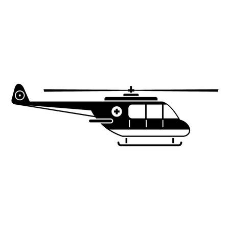 Helicopter icon. Simple illustration of helicopter vector icon for web Ilustração