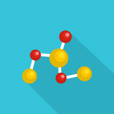 Chemical lattice icon. Flat illustration of chemical lattice vector icon for web Illustration