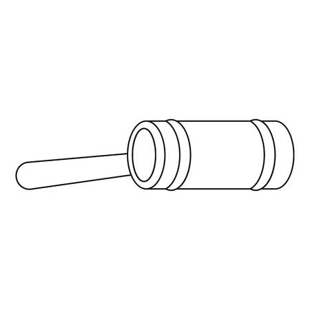 Justice gavel icon. Outline illustration of justice gavel vector icon for web