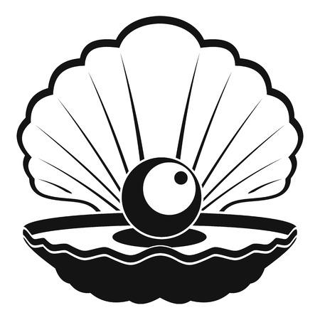 Opened shell icon illustration Ilustração
