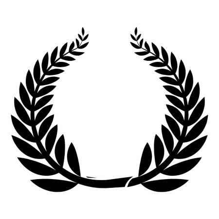 Sport wreath icon. Simple illustration of sport wreath vector icon for web Illustration