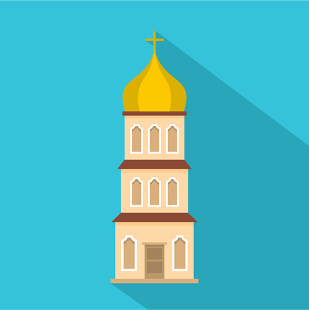 Church tower icon. Flat illustration of church tower vector icon for web Illustration