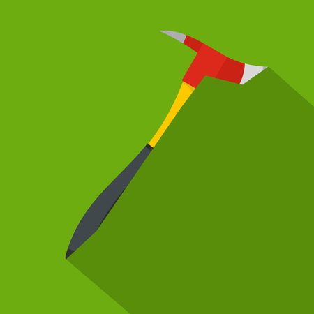 Pickaxe icon. Flat illustration of pickaxe vector icon for web Ilustração
