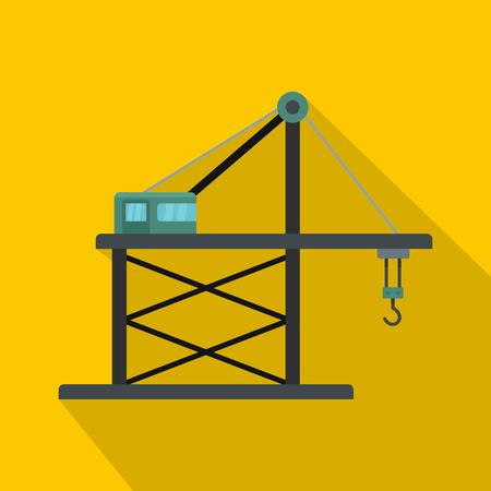 Platform crane icon.