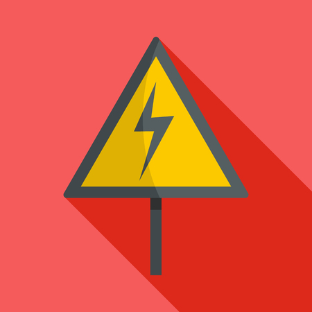 Voltage icon. Flat illustration of voltage vector icon for web