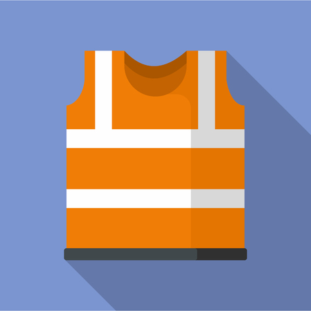 Safety vest icon. Flat illustration of safety vest vector icon for web Çizim