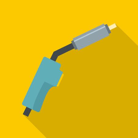 Burning gas icon. Flat illustration of burning gas vector icon for web
