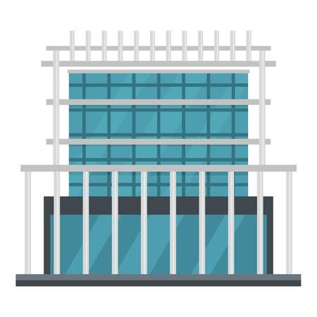 Construction of house icon. Flat illustration of construction of house vector icon for web Ilustracja