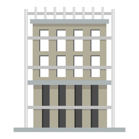 Outside house icon. Flat illustration of outside house vector icon for web Ilustracja